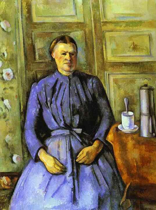 Na tento obrazjsem narazila před dvěma týdny v muzeu D'Orsay v Paříži a krk na to, že je na něm moka kávovar.Jedná se o Woman with coffee pot od Cezanna z roku 1895. Čili jak říkám, není to žádná novinka.   zdroj:http://www.museumsyndicate.com/item.php?item=3395