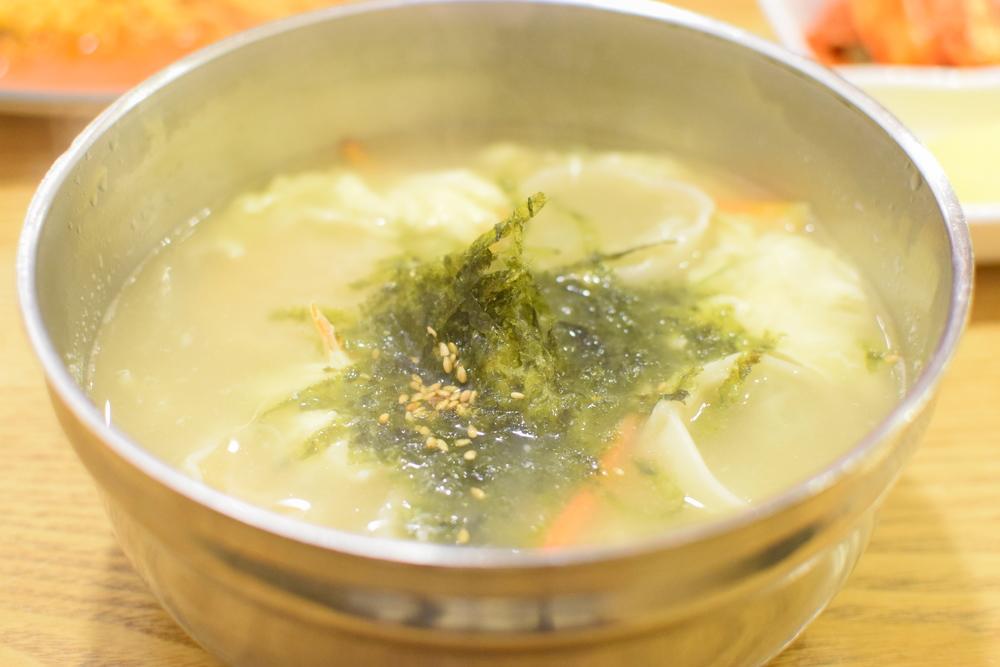 mandu (plněné knedlíčky masem) polévka. Mňam!