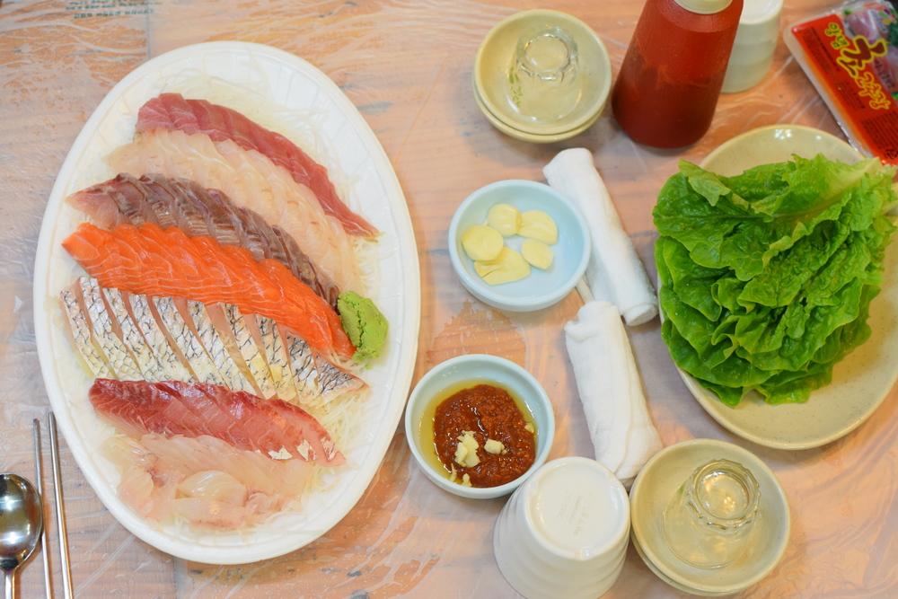 naše sashimi za cca 300 Kč, tuhle chuť už asi nic nepřekoná...