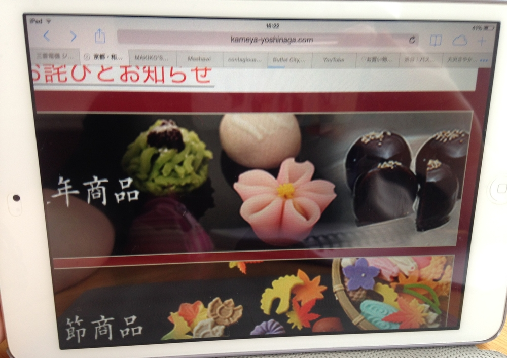 wagashi,co vše se dá z fazolí a cukru modelovat, stejně tak napravo