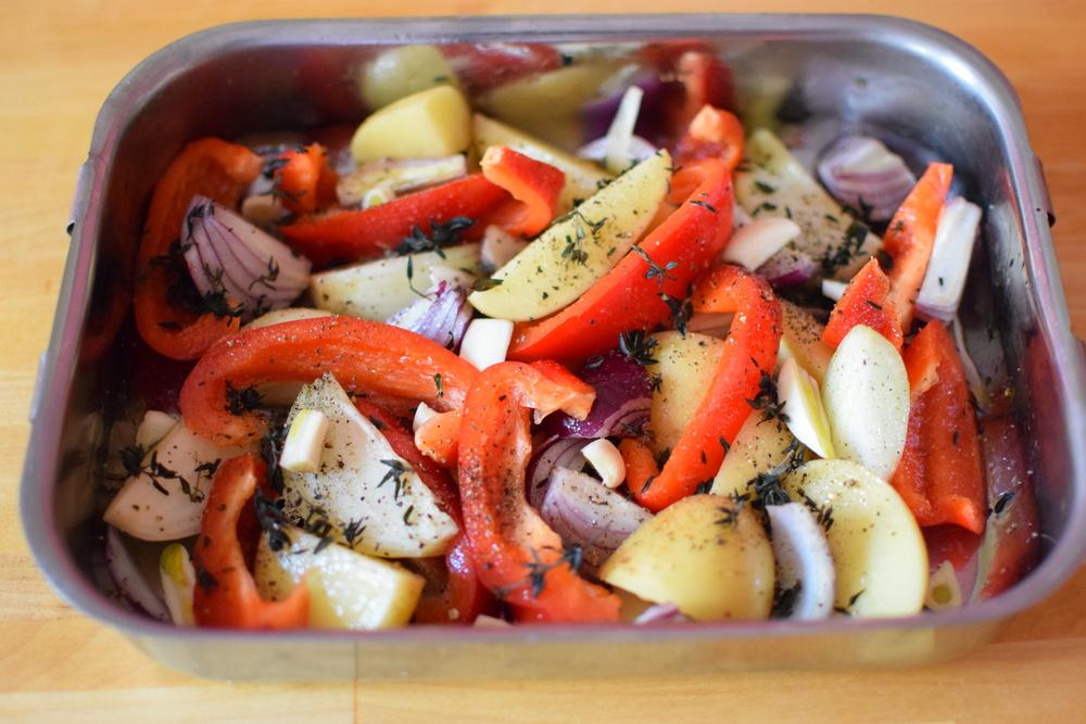 připravená zelenina