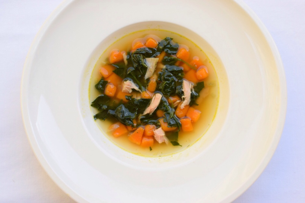 polévka před rozmixováním