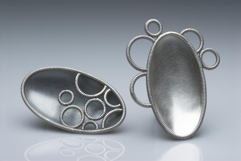 1. Silver brooches £550 & £595 @ 5.5cm x 3cm