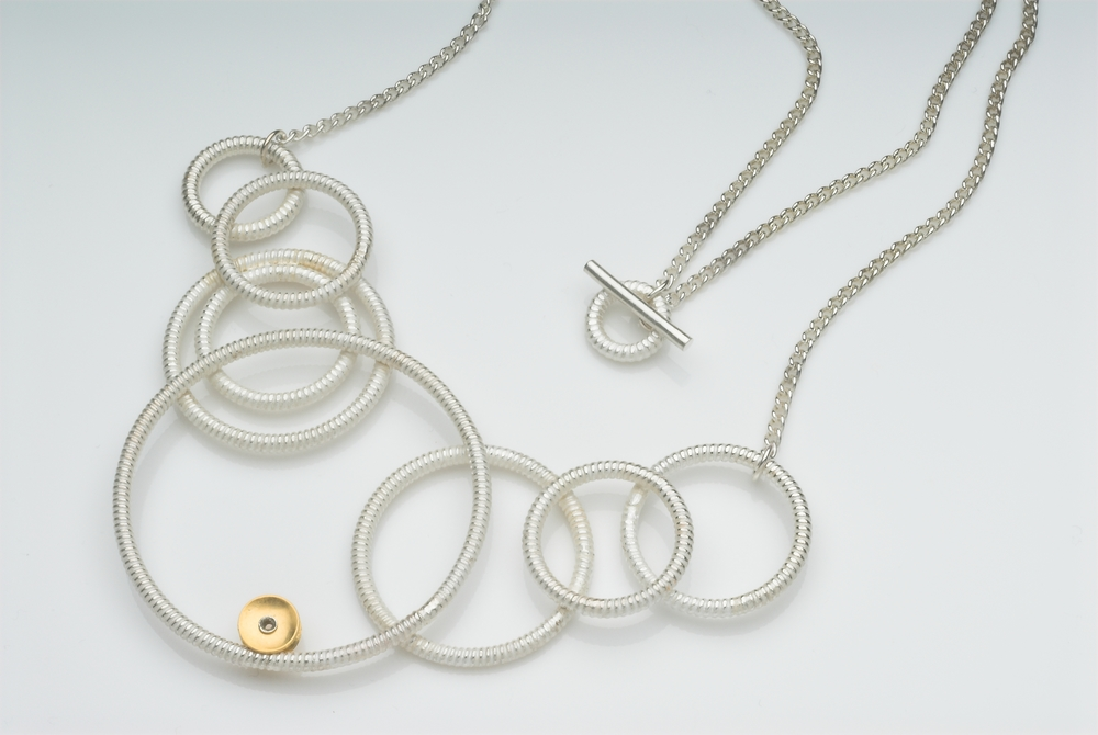 Silver and gold plate necklace £360 @ 47cm