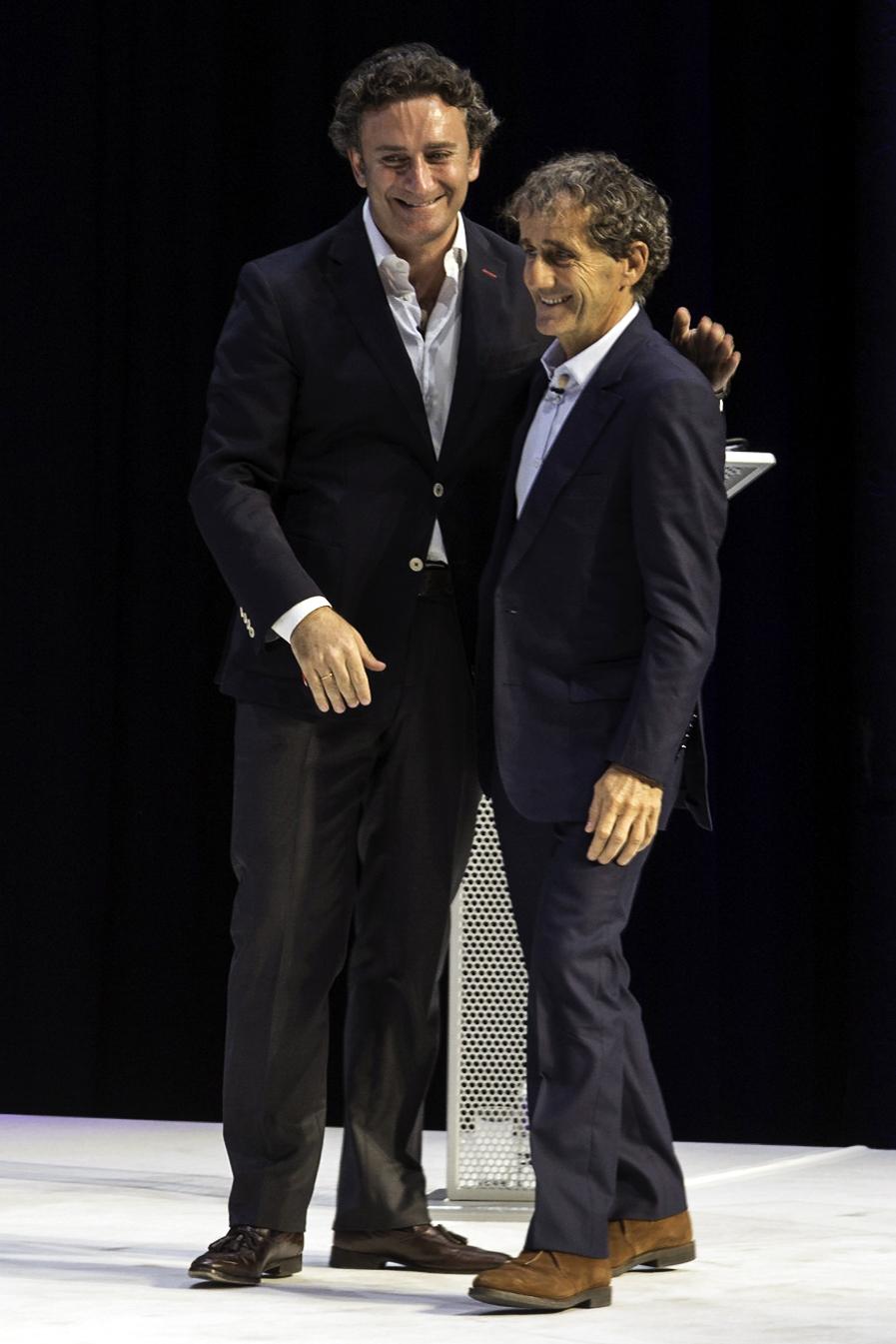 Alain Prost & Alejandro Agag - Formula-e launch, Roundhouse