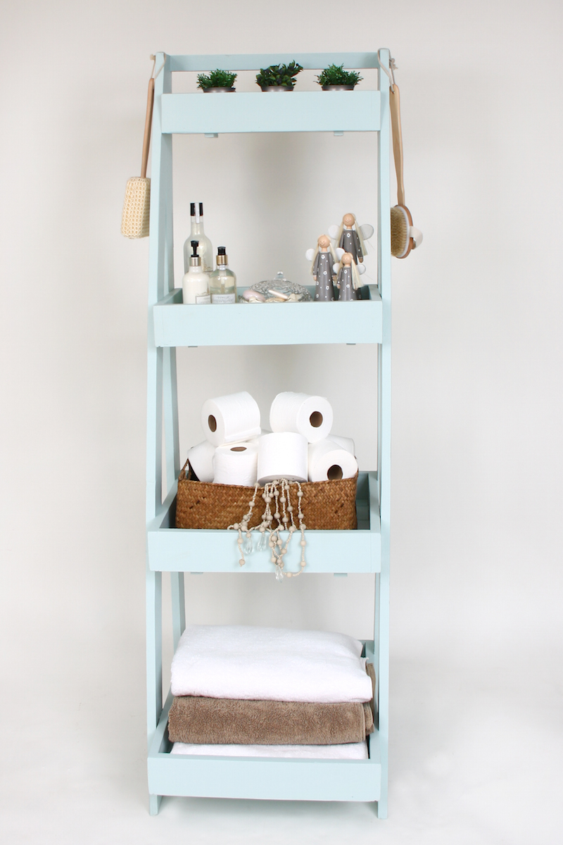 Ladder shelf for attractive storage