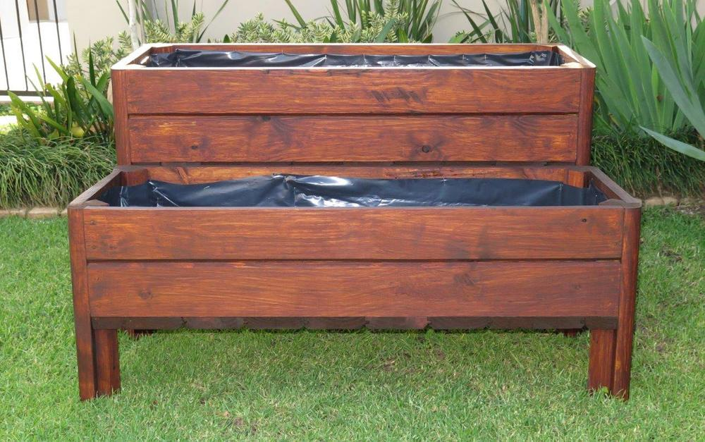 Great Tiered Wooden Planter Boxes