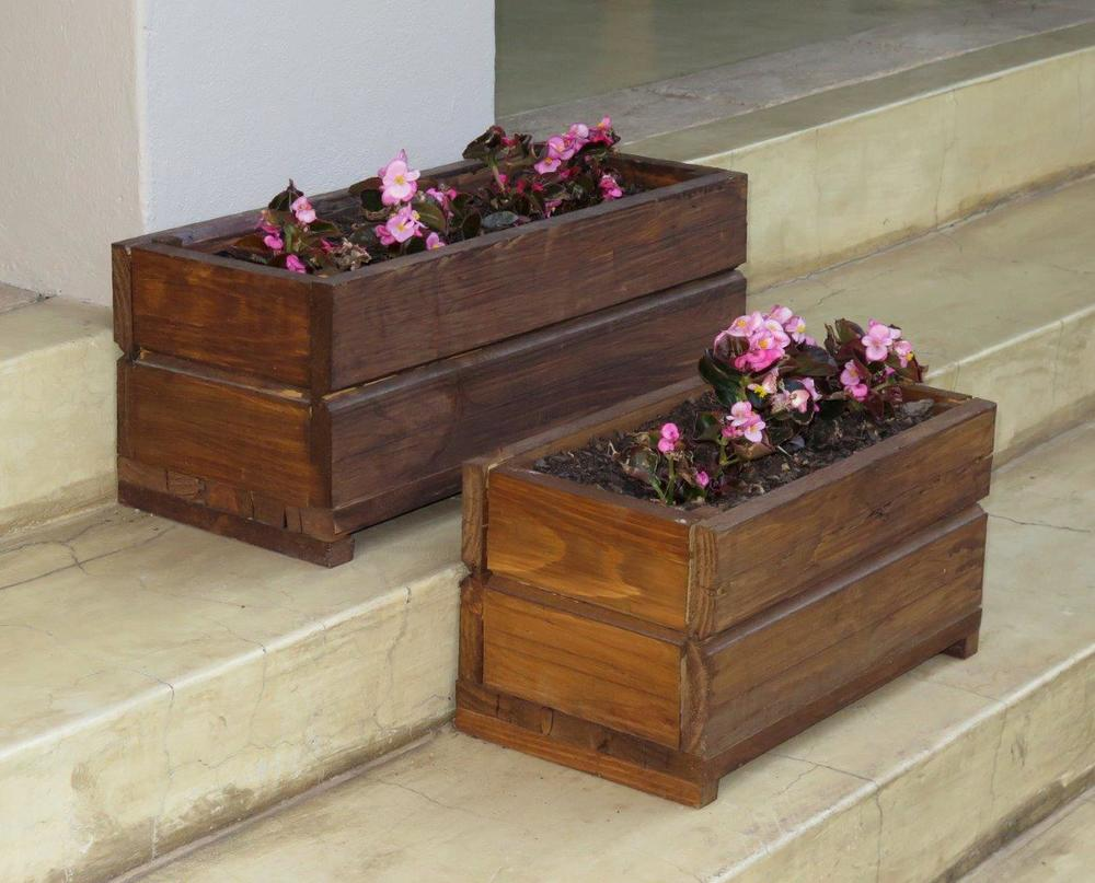 Wooden Planter Boxes Wood Pioneers Wendy House