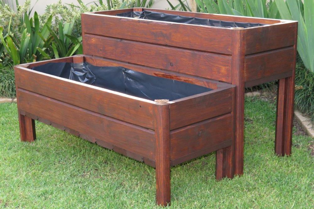 Wooden Planter Box Legs B