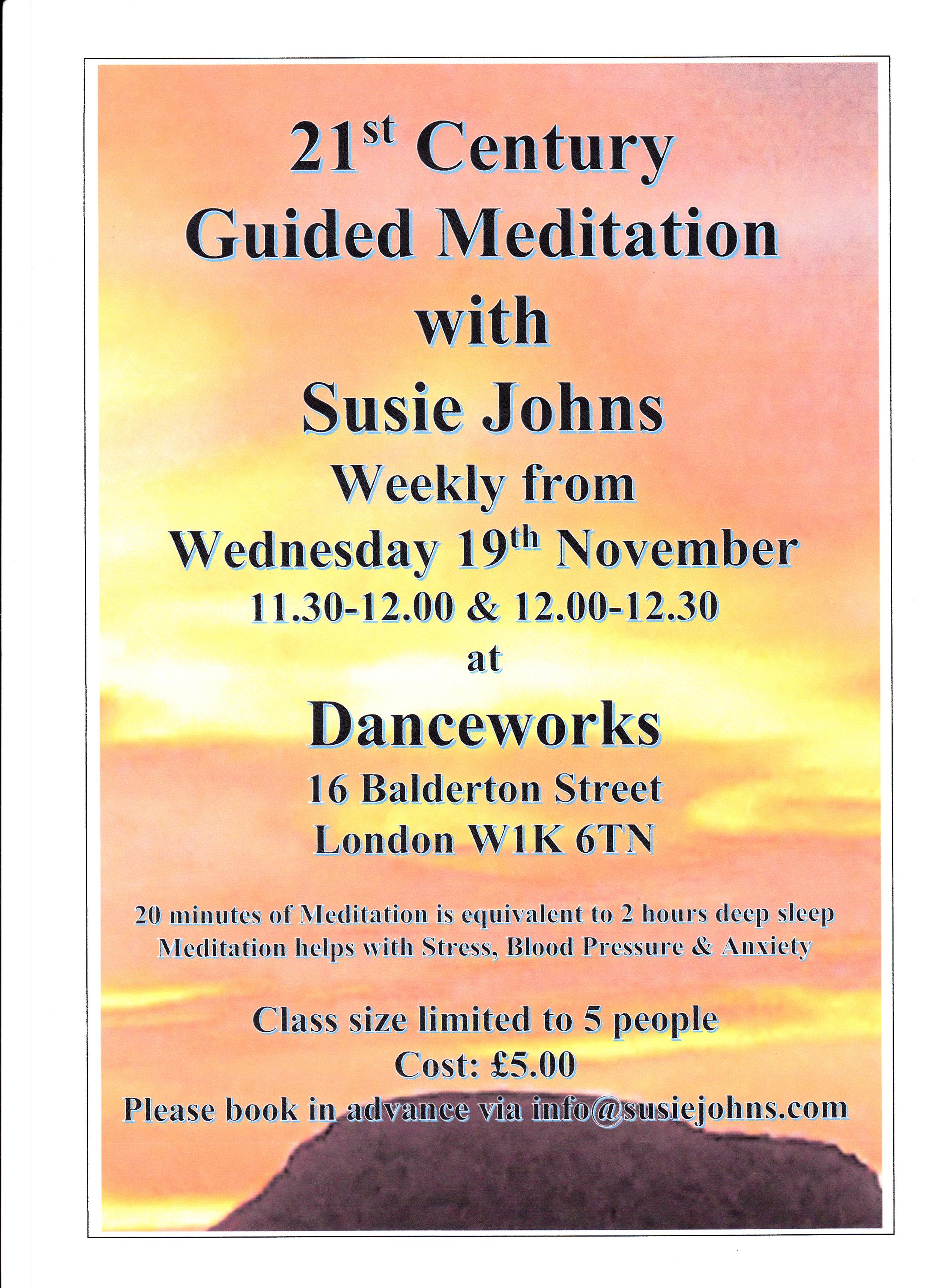 Danceworks Meditation Poster