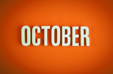 October sign lettering