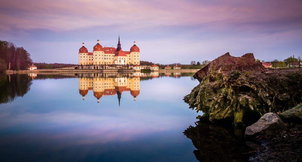 Moritzburg Castle During Sunset