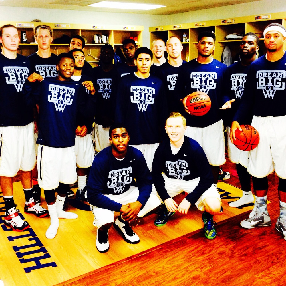 "Hillsdale Baptist College Saints-They wore our ""Dream Big"" shirts during the entire 2015 season to help spread the word! Thanks Coach Berokoff!"