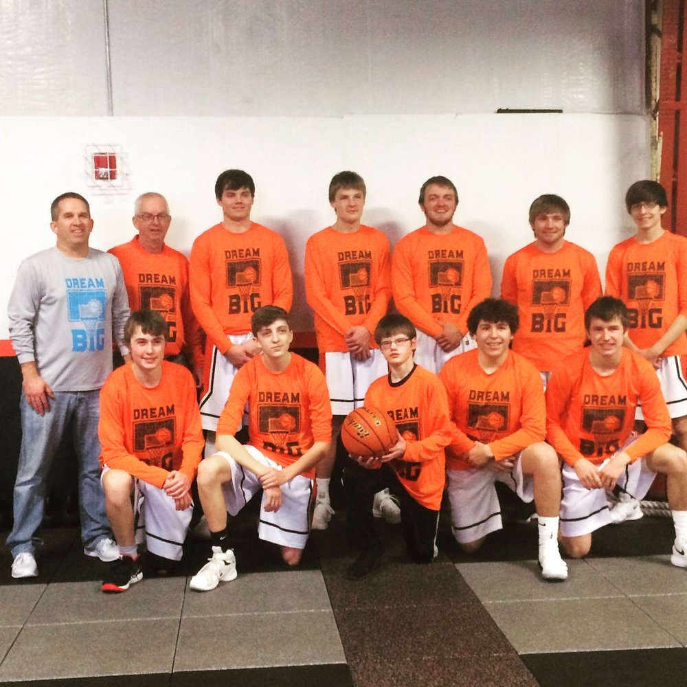 The Palmer Tigers had an awareness outing on January 6th! We are very thankful for their support and wearing our Dream Big shirts during the season. Aaron Bly's son, Trae, even got to attend the game and have his picture taken with the team!