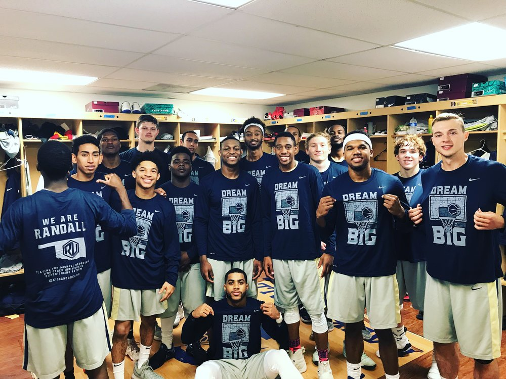The two time defending NCCAA National Champs, Randall University men's basketball team, is wearing our Dream Big shirts again this year! The Saints were one of the first schools to come along side us and help us spread awareness. Truly grateful for their help & support!