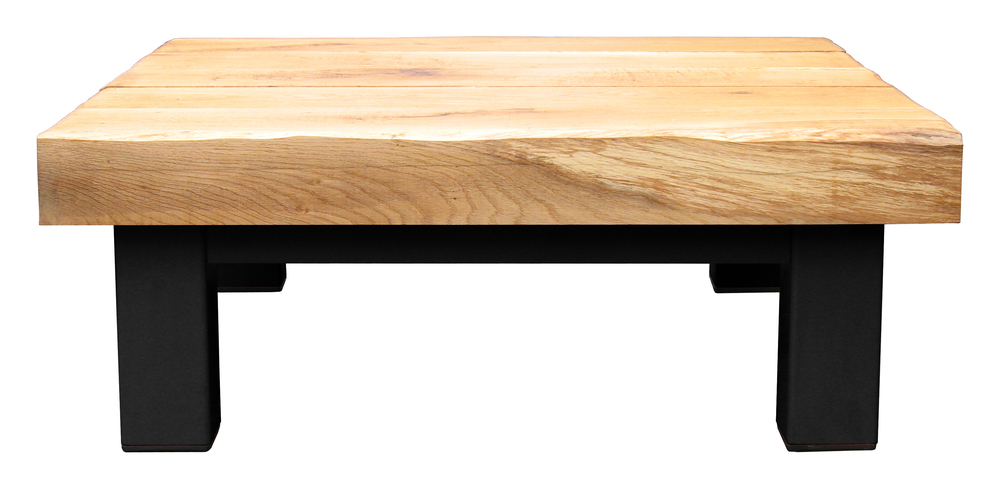 Oak & Iron Furniture Large Coffee Table - Black