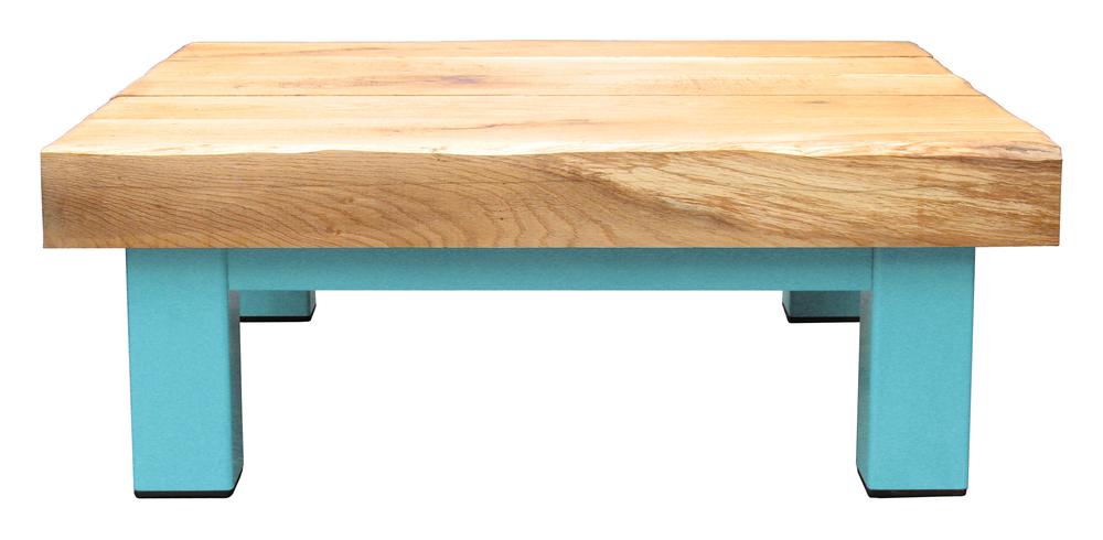 Oak & Iron Furniture Large Coffee Table - Fresh Aqua
