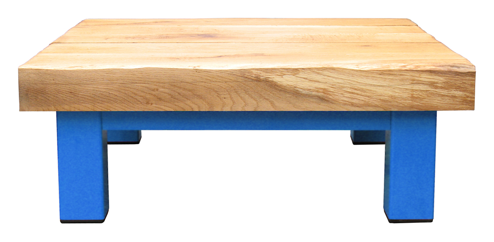 Oak & Iron Furniture Large Coffee Table - Sky Blue