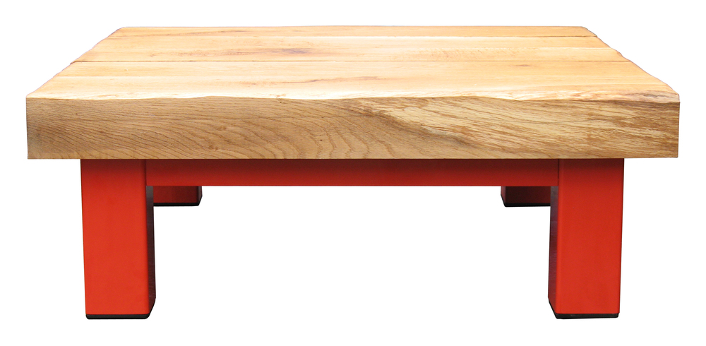 Oak & Iron Furniture Large Coffee Table - Pepper Red