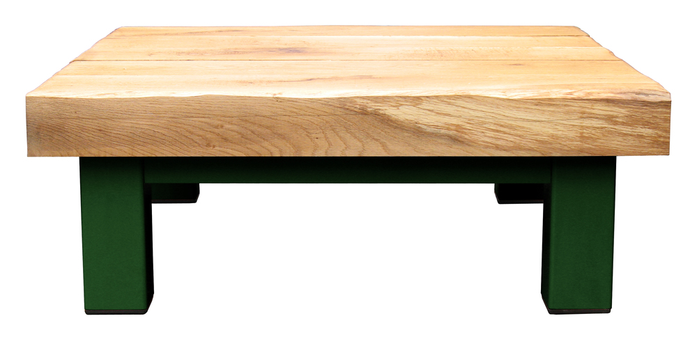 Oak & Iron Furniture Large Coffee Table - Dark Green