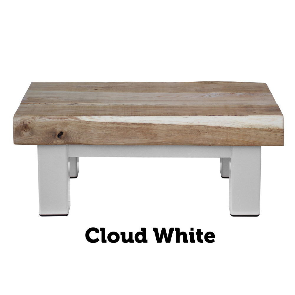 Oak U0026 Iron Furniture Medium Oak Coffee Table   Cloud White