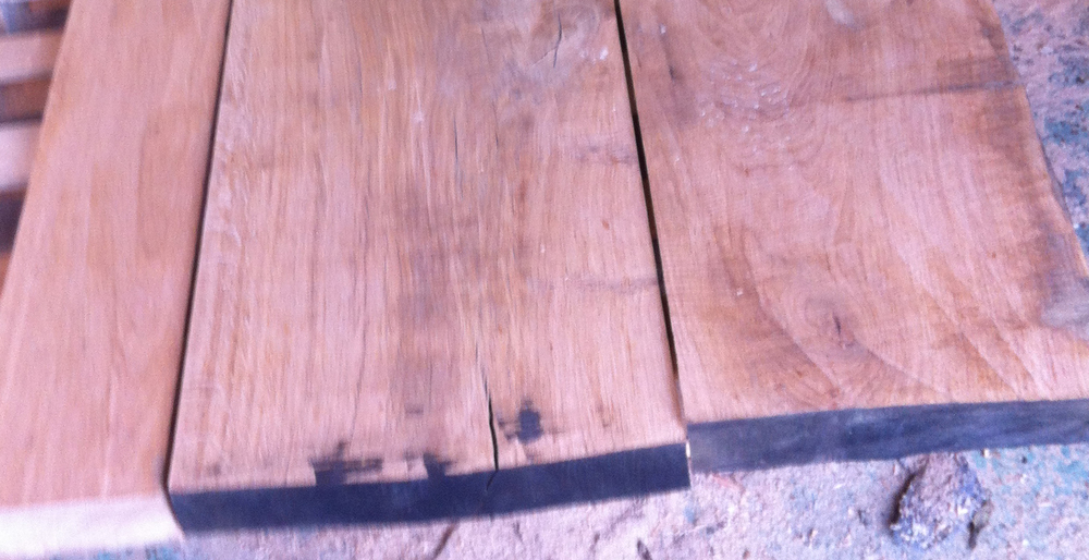 Oak & Iron Furniture Planed Oak Top