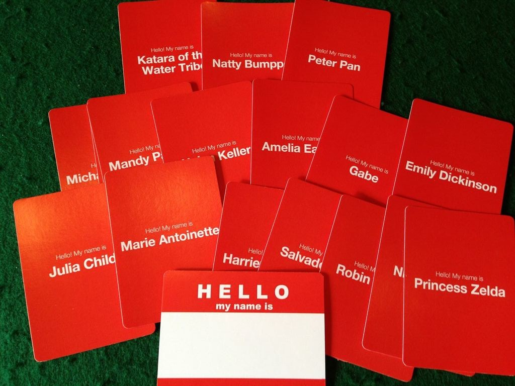 Hello my name is... Cards