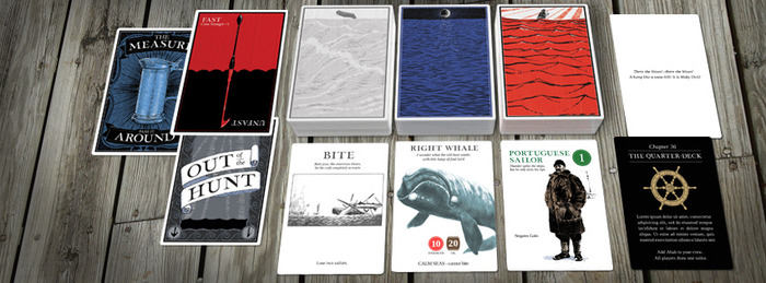 Moby Dick - Example of the three different decks used for the game.
