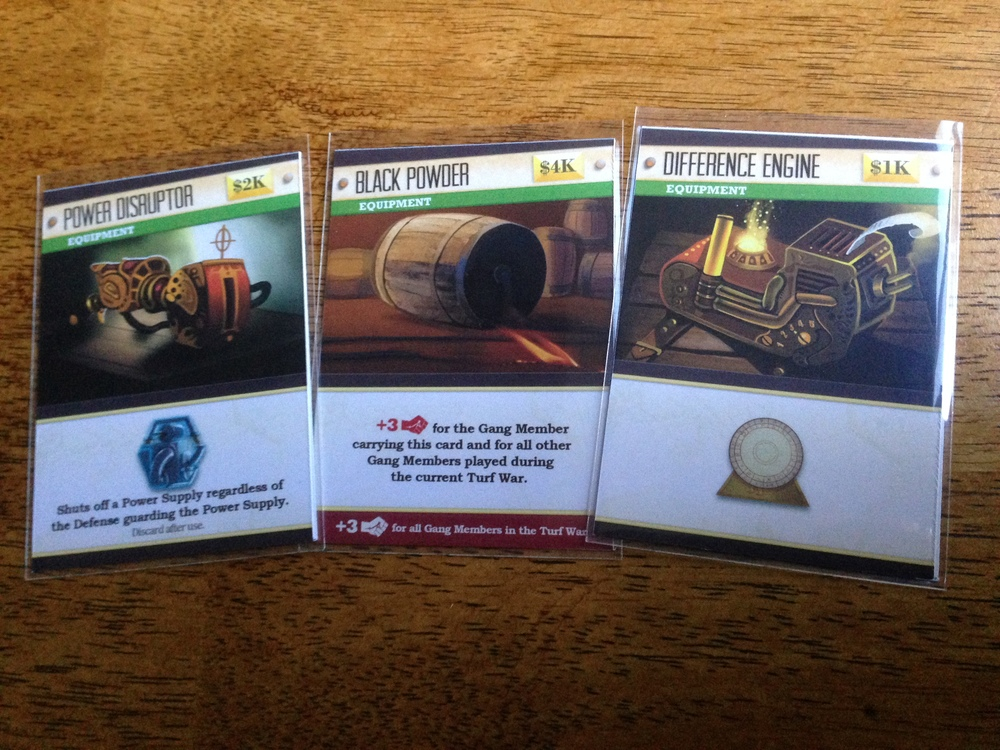 Equipment cards
