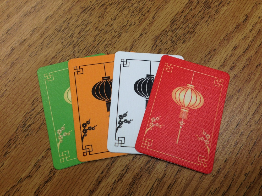 Lantern cards. Prototype components.