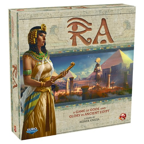 Ra - Ra is probably the best 3-player game ever. EVER! It's a Reiner Knizia push-your-luck auction classic and it should be in every gamer's collection.