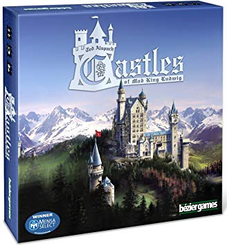 Castles of Mad King Ludwig - Beautiful and Fun. I love building the castle and watching it come together as the points roll in. Win or lose, it's super satisfying.