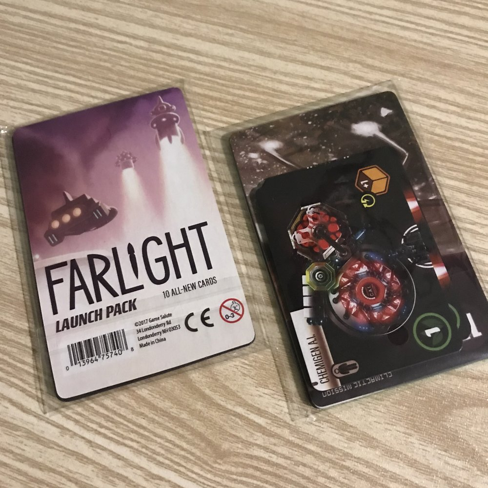 Flaright Launch pack   A special add on promo pack for Farlight, the bidding card game from Starling Games!  -Cost 1 credit