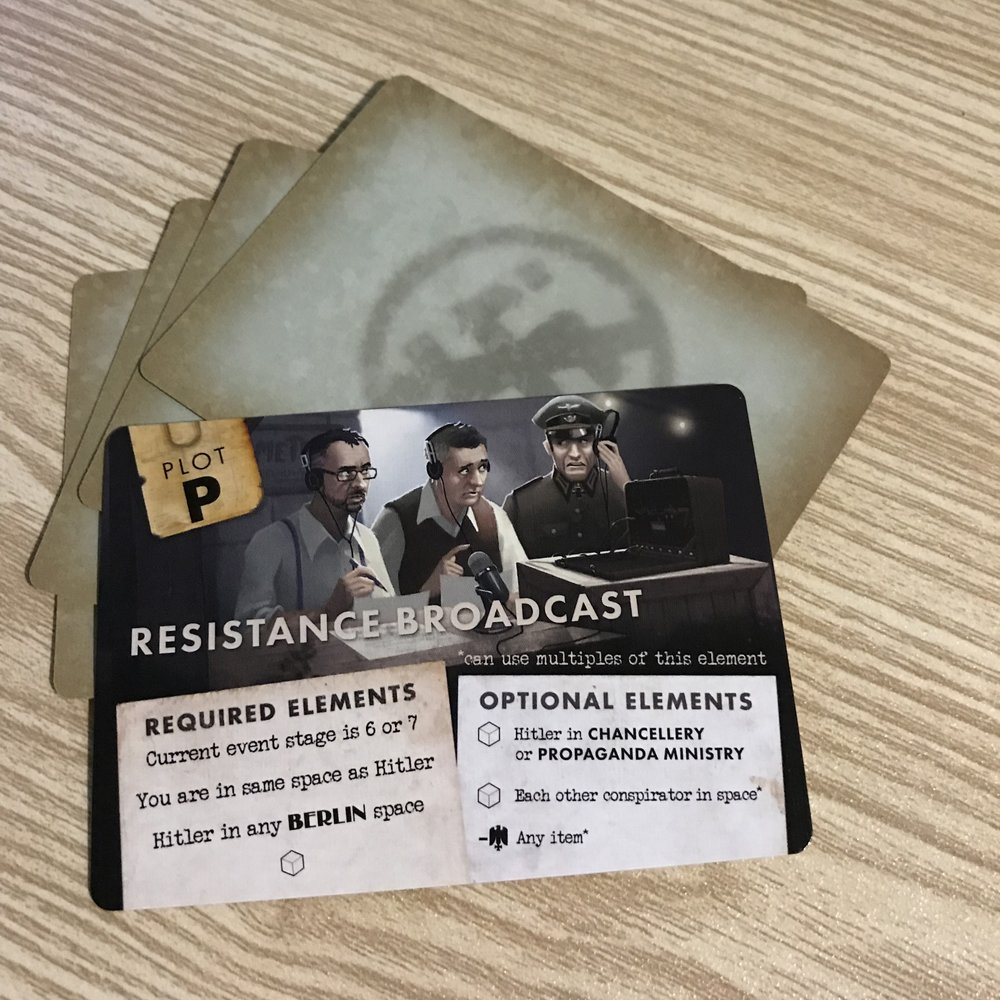 Black Orchestra promo card   The Resistance Broadcast is a promo card that is typically only available at a convention, but you can get one here!  -Cost 1 Credit