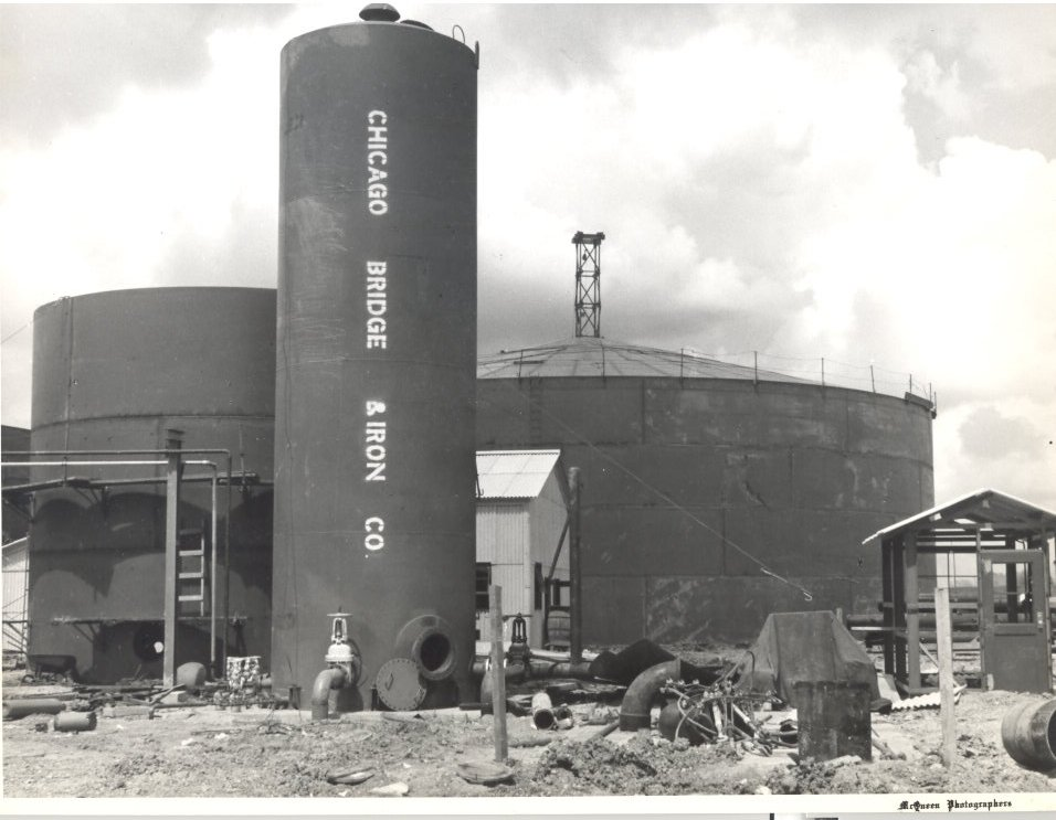 1955 Molasses Storage Tanks