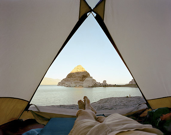 Chambre avec vue #5  Pyramid Lake, Nevada   Dream catcher : Mark Klett