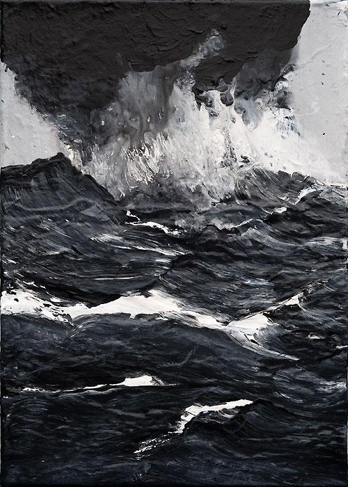 Dark sea Painting by Werner Knaupp — Desillusion Magazine