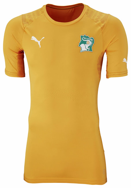 Cote d'Ivorian home jersey. Source: Footy Headlines.