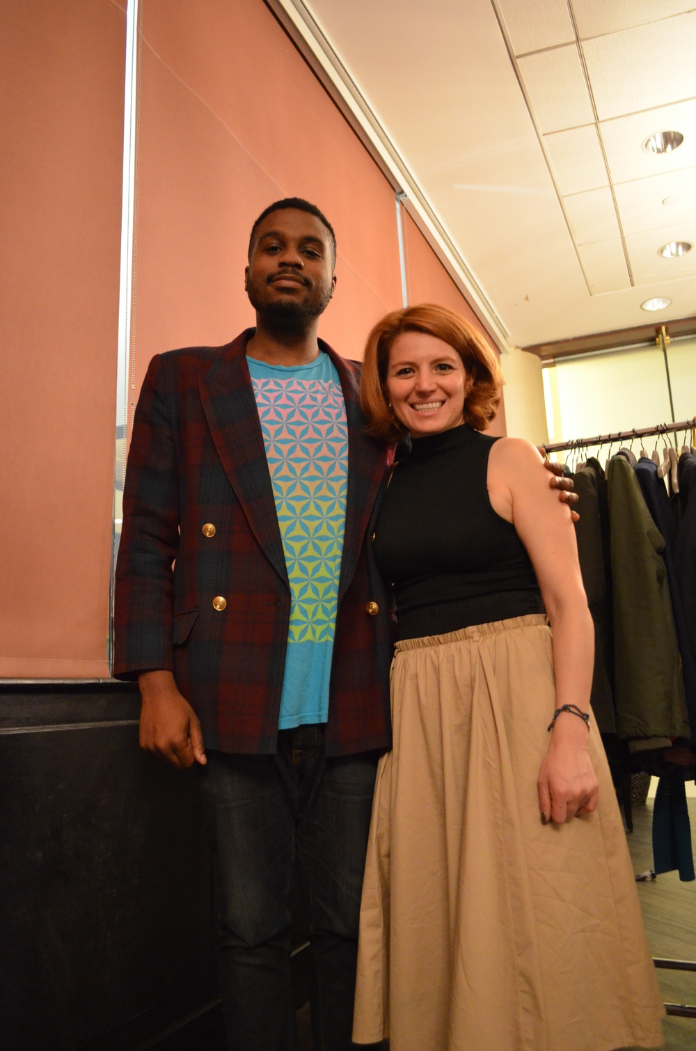 Tuesday, Oct. 7 at Head to Toe Fashion Show & Trunk Show | Tatiana Tejedor, the Co-Owner of Caramelo Clothing, and her client, Donald Vincent aka Mr. Hip.