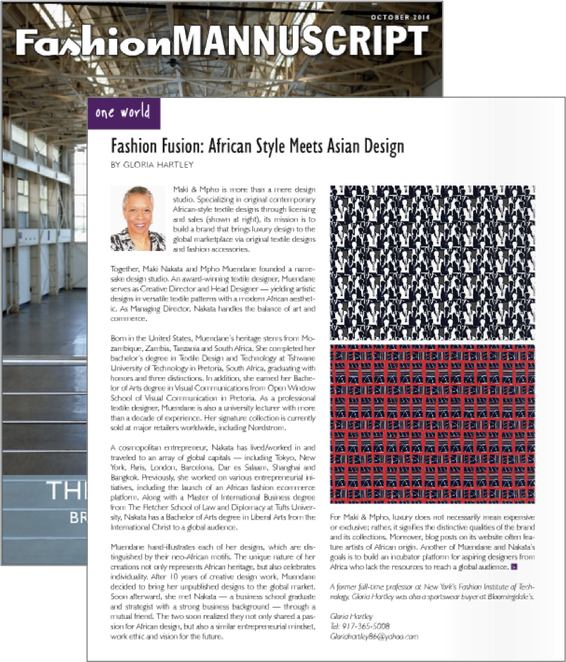 Fashion Mannuscript - October, 2014.