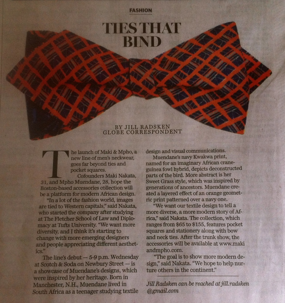 The Boston Globe - Sunday Arts. December 7, 2014