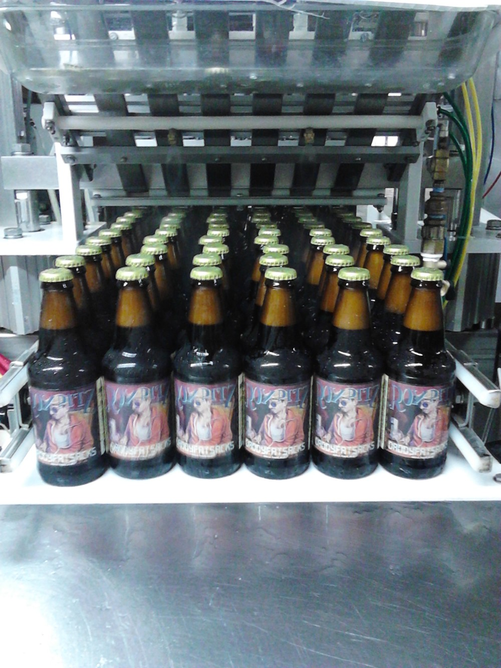 Daddy Fat Sacks coming off of the bottling line...