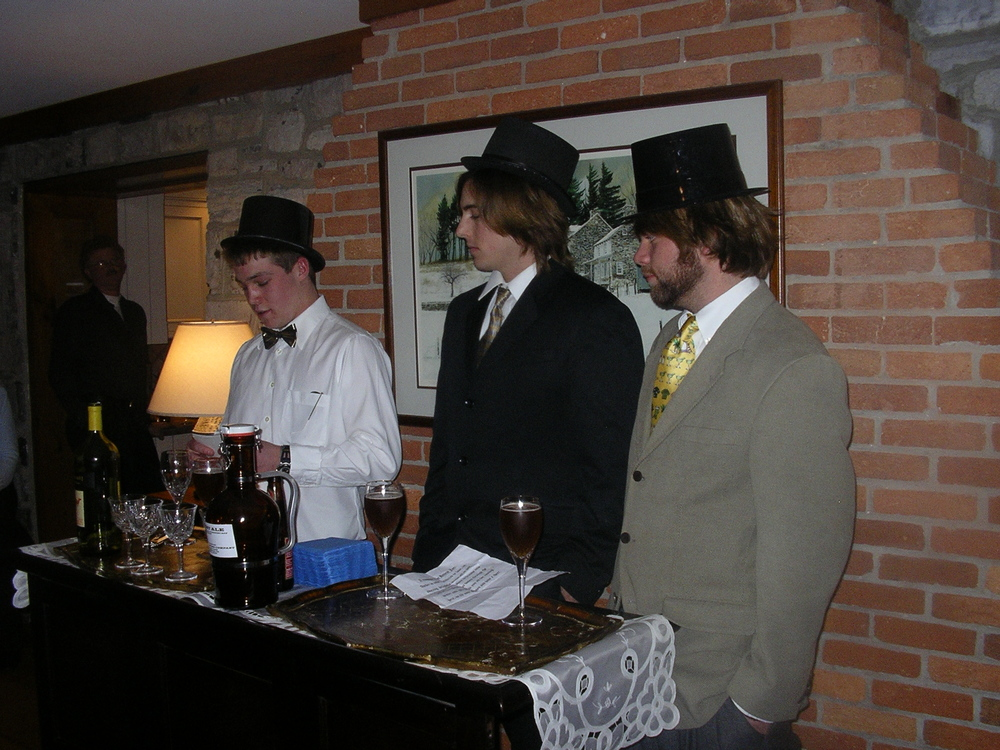 A Christmas Social, soliciting investors probably, in the days before it was a reality.