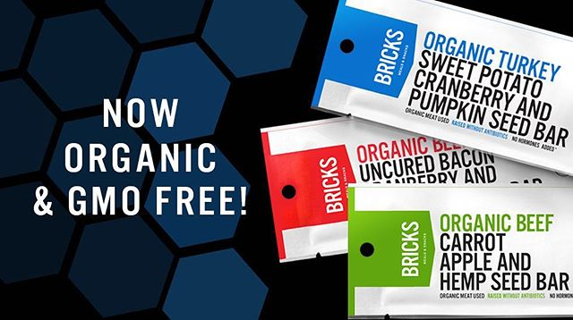 IT'S FINALLY HERE! Introducing our new certified Organic & GMO-free Bricks Bars! First flavor up: Beef Bacon Cranberry and Sunflower Seed. We apologize for the wait, we have been hard at work making Bricks the best it can be. Follow the link in our Bio to get your hands on these new Bars now!
