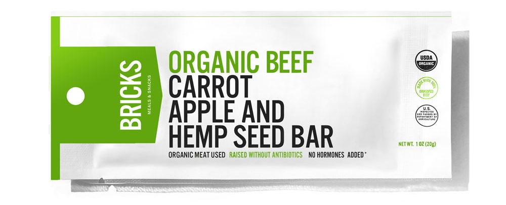 Grass Fed Beef, Apple, Carrot | Box of 12 Protein Bars