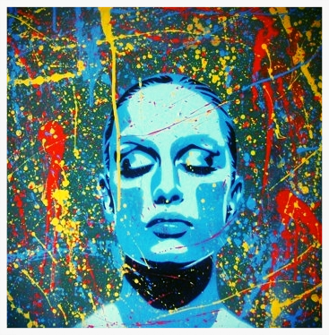 painting_of_models_face_abstract_dreamer_spraypaint_on_canvas_pollock_splash_dreams_stencils_textured_blue_red_yellow_sleep_his_hers_custom_64e0178d.jpg