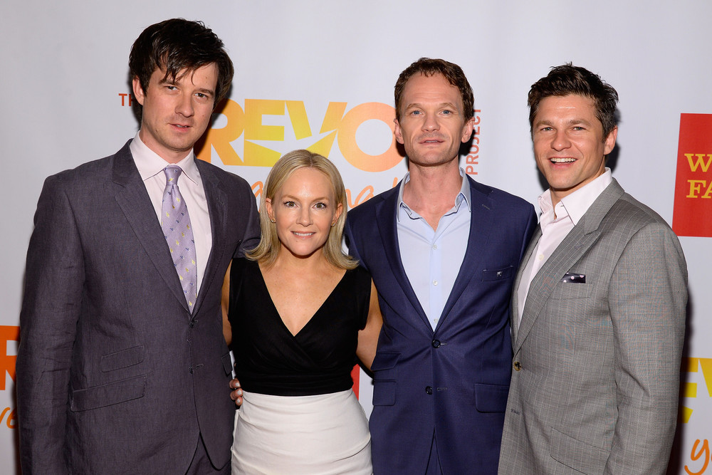 Christian Hebel, Rachael Harris, Neil Patrick Harris, David Burtka an the Red Carpet @TrevorLive June 16, 2014   Photo credit: Dave Kotinsky