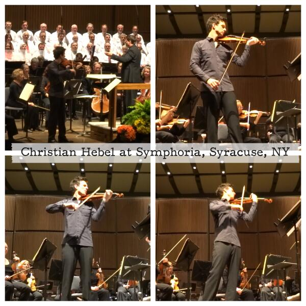 Performing as the guest solo violinist with Symphoria conducted by Sean O'Loughlin May 16, 2014