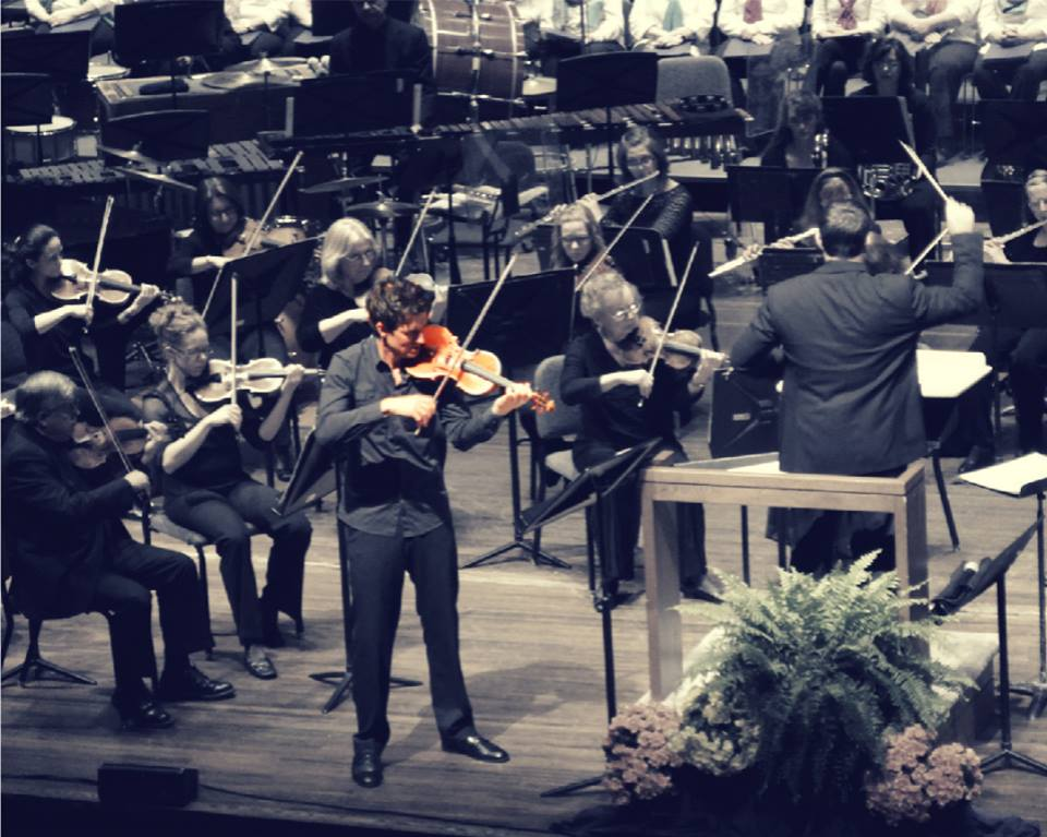May 16, 2013 Performing as solo violinist with Symphoria at the OnCenter Syracuse, NY Photo by Alysha Renee