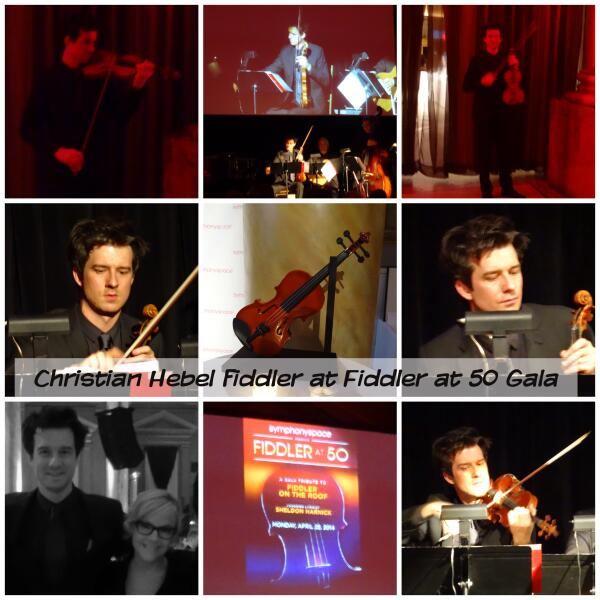 Performing at the Fiddler at 50 Gala in New York City, NY in the role of the Fiddler. Photos by @pisceslikejosh